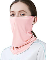 cheap -Women's Sports Mask 1 PCS Outdoor Portable Sunscreen Breathable Soft Pollution Protection Mask Solid Color Polyester Black Purple Blue for Fishing Climbing Beach