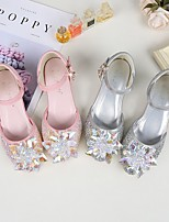 cheap -Girls' Sandals Princess Shoes PU Little Kids(4-7ys) Big Kids(7years +) Daily Walking Shoes Bowknot Beading Pink Silver Spring Summer