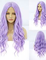 cheap -Synthetic Wig Deep Wave Middle Part Wig Medium Length A10 A1 A2 A3 A4 Synthetic Hair Women's Cosplay Party Fashion Purple