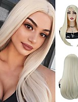 cheap -Synthetic Hair Wigs 613 Blonde Wigs For Black Women Heat Resistant Synthetic Hair Silky Straight Blonde Wigs