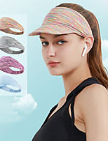 cheap -Women's Visor 1 PCS Outdoor Portable Sunscreen Breathable Soft Hat Patchwork Polyester / Cotton Blend Purple Fuchsia Grey for Fishing Climbing Beach