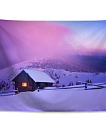cheap -Wall Tapestry Art Decor Blanket Curtain Hanging Home Bedroom Living Room Polyester Winter Snow Mountain Snow View Chalet