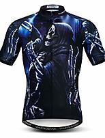 cheap -mens cycling jersey tops 3d print biking shirts short sleeve full zipper bicycle jacket pockets lycra cuff - - s = (height 165/170 cm weight 50 kg / 125lbs)