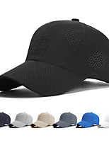 cheap -Men's Visor 1 PCS Outdoor Portable Sunscreen Breathable Quick Dry Hat Solid Color Polyester White Black Blue for Fishing Climbing Beach