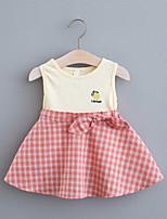 cheap -Toddler Little Girls' Dress Fruit Print Yellow Blushing Pink Green Knee-length Sleeveless Regular Dresses Summer Loose 2-4 Years
