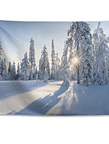 cheap -Wall Tapestry Art Decor Blanket Curtain Hanging Home Bedroom Living Room  Polyester Winter Tree Sunrise Cold Snowflake Cloud Outdoor Forest