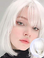 cheap -Synthetic Wig Pink Red Black Blue Purple Blonde White Wig Female Short Bob Halloween Christmas Party Cosplay Wigs For Women