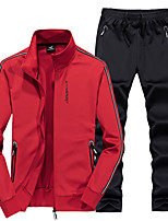 cheap -Women's Hiking Jacket with Pants Autumn / Fall Winter Spring Summer Outdoor Solid Color Quick Dry Lightweight Breathable Soft Top Clothing Suit Hunting Fishing Climbing Black Red Blue