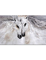 cheap -Oil Painting Hand Painted Horizontal Abstract Animals Modern Rolled Canvas (No Frame)