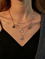 cheap -Women's Pendant Necklace Necklace Classic Cat Claw Simple Fashion Trendy Cute Alloy Gold 45 cm Necklace Jewelry 1pc For Party Evening Gift Birthday Party / Layered Necklace