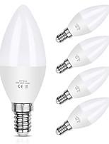 cheap -10pcs 6pcs 5pcs 6 W LED Candle Lights 550 lm E14 C37 20 LED Beads SMD 2835 Decorative Warm White Cold White 220-240 V 110-130 V