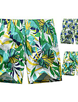 cheap -Men's Swim Shorts Swim Trunks Board Shorts Breathable Quick Dry Swimming Surfing Water Sports Floral / Botanical Summer