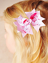 cheap -1pcs Toddler Girls' Active / Sweet Vacation Red Geometric Bow Polyester Hair Accessories White / Black / Purple One-Size