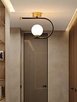 cheap -23 cm LED Ceiling Light Porch Light Corridor Lamp Black Gold Globe Design Nordic Geometric Shapes Flush Mount Lights Metal Artistic Style Globe Painted Finishes LED 220-240V