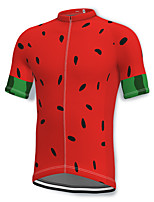 cheap -21Grams Men's Short Sleeve Cycling Jersey Spandex Red Bike Top Mountain Bike MTB Road Bike Cycling Breathable Quick Dry Sports Clothing Apparel / Athleisure
