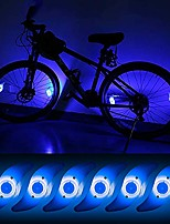 cheap -6pcs bicycle hot wheel spoke lights, blue flashing led neon lights bike cycling tire spoke safety warning lights waterproof