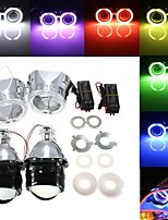 cheap -OTOLAMPARA 2 X 2.5 Inch H1/H4/H7 Bi-Xenon HID Projector Headlights Conversion Kit with Lens CCFL Angel Eyes Halo Ring Lights Shroud Left #1 / Right #2 Optional