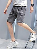 "cheap -Men's Hiking Shorts Hiking Cargo Shorts Solid Color Summer Outdoor 12"" Regular Fit Ventilation Multi-Pockets Shockproof Cotton Shorts Bottoms Army Green Dark Gray Orange Khaki Beach Traveling 28 29"