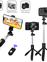 cheap -K05 Extendable Bluetooth Selfie Stick Tripod for iPhone Samsung Wireless Remote Bluetooth Extendable Max Length to 74 cm Selfie Stick For Android Smart Devices Smartphones