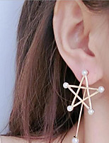 cheap -Women's Drop Earrings Geometrical Mini Earrings Jewelry Gold For Wedding Party 1 Pair