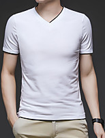 cheap -Men's T shirt Hiking Tee shirt Short Sleeve Tee Tshirt Top Outdoor Quick Dry Lightweight Breathable Stretchy Autumn / Fall Spring Summer Polyester White Grey Fishing Climbing Camping / Hiking / Caving