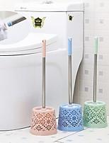 cheap -Bathroom Hollow Toilet Brush Set Stainless Steel Long Handle Toilet Brush Fashion Soft Hair Toilet Brush
