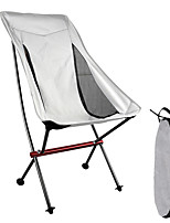 cheap -Camping Chair Portable Ultra Light (UL) Multifunctional Foldable Aluminum Alloy for 1 person Fishing Beach Camping Autumn / Fall Winter Black Red Grey Gray+White / Breathable / Comfortable