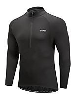 cheap -men's cycling jersey, long sleeve bicycle bike shirt, reflective & quick dry(2xl, black)