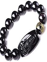 cheap -buddha pendant necklace bodhisattva amulet talisman made of obsidian bracelets bracelet amulet (acala buddha)