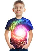 cheap -Kids Boys' Tee Short Sleeve Graphic Children Tops Active Rainbow 3-12 Years