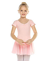 cheap -Girls' Short Sleeve Skirted Leotard, Light Pink 120