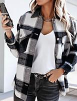 cheap -Women's Geometric Print Fall & Winter Jacket Regular Holiday Long Sleeve Cotton Coat Tops Pink