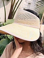 cheap -Women's Hiking Cap 1 PCS Outdoor Portable Sunscreen Breathable Soft Hat Solid Color Polyester Light Yellow Grey for Fishing Climbing Beach