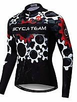 cheap -cycling jersey men breathable long sleeve reflective bike shirts mtb tops skull black size s