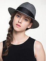 cheap -Simple Elegant Straw Hats with Trim 1 Piece Special Occasion / Party / Evening Headpiece