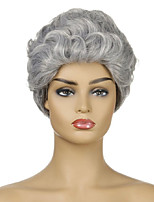 cheap -Synthetic Wig Curly Short Bob Wig Short Silver grey Synthetic Hair Women's Fashionable Design Party Comfy Silver Dark Gray