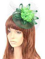 cheap -Elegant Retro Tulle Fascinators with Floral 1 Piece Special Occasion / Party / Evening Headpiece