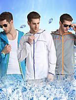 cheap -Men's Hiking Skin Jacket Hiking Windbreaker Summer Outdoor Packable UV Sun Protection Quick Dry Lightweight Outerwear Jacket Top Fishing Climbing Running Fluorescent green (new) White Blue Gray