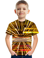 cheap -Kids Boys' Tee Short Sleeve Graphic Children Tops Active Gold