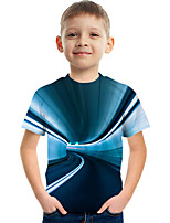cheap -Kids Boys' Tee Short Sleeve Graphic 3D Children Tops Active Blue