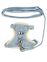 cheap -Dog Cat Harness Training Leash Harness Leash Set Adjustable Breathable Escape Proof Outdoor Walking Big Eyes Nylon Small Dog Blue Pink Coffee