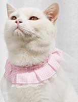 cheap -Dog Cat Necklace Lace Flower Elegant Cute Sweet Dailywear Casual / Daily Dog Clothes Puppy Clothes Dog Outfits Breathable White / Red White Pink Costume for Girl and Boy Dog Cotton S M