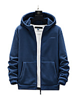 cheap -Men's Hiking Jacket Hiking Fleece Jacket Autumn / Fall Winter Spring Outdoor Solid Color Windproof Quick Dry Lightweight Breathable Winter Fleece Jacket Top Hunting Fishing Climbing Black Red Blue