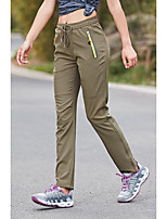 cheap -Women's Hiking Pants Trousers Solid Color Summer Outdoor Quick Dry Breathable Soft Wear Resistance Pants / Trousers Black Army Green Rose Red Hunting Fishing Camping / Hiking / Caving M L XL XXL XXXL
