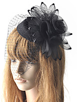cheap -Elegant Retro Tulle Fascinators with Floral / Trim 1 Piece Special Occasion / Party / Evening Headpiece
