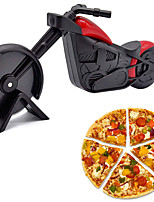 cheap -Motorcycle Pizza Cutter Pizza Wheel Roller Tool Stainless Steel Pizza Slicer Sharp Blade Motorbike Cutting Wheels