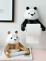 cheap -Panda Paper Towel Holder Kitchen Bathroom Household Toilet Paper Holder Perforated Wall-mounted Paper Roll Holder
