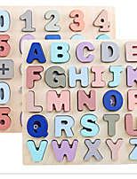 cheap -Number and Alphabet Puzzle Wooden 2 Set for Toddler with Mild Macaron Color Preschool Learning Game Toy Sorting and Counting Montessori Education Cognitive Training Tool Kid Age 3 4 5 6 Gift for Kid