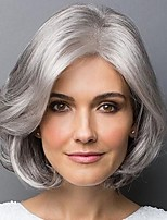 cheap -Synthetic Wig Curly Asymmetrical Wig Short Silver grey Synthetic Hair Women's Party Fashion Comfy Silver Gray