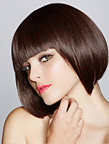 cheap -Synthetic Wig Straight Bob Neat Bang Wig Short Black / Brown Synthetic Hair Women's Fashionable Design Cosplay Party Black Brown